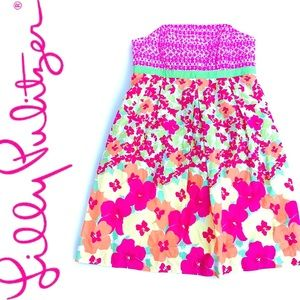 Lilly Pulitzer Floral Strapless
